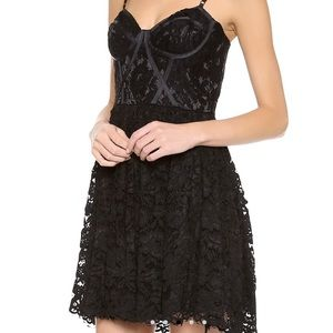 Jill Jill Stuart black lace bustier dress
